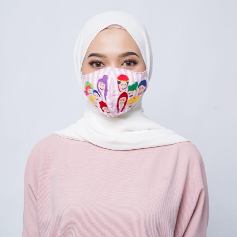 Desain masker kesehatan yang lucu