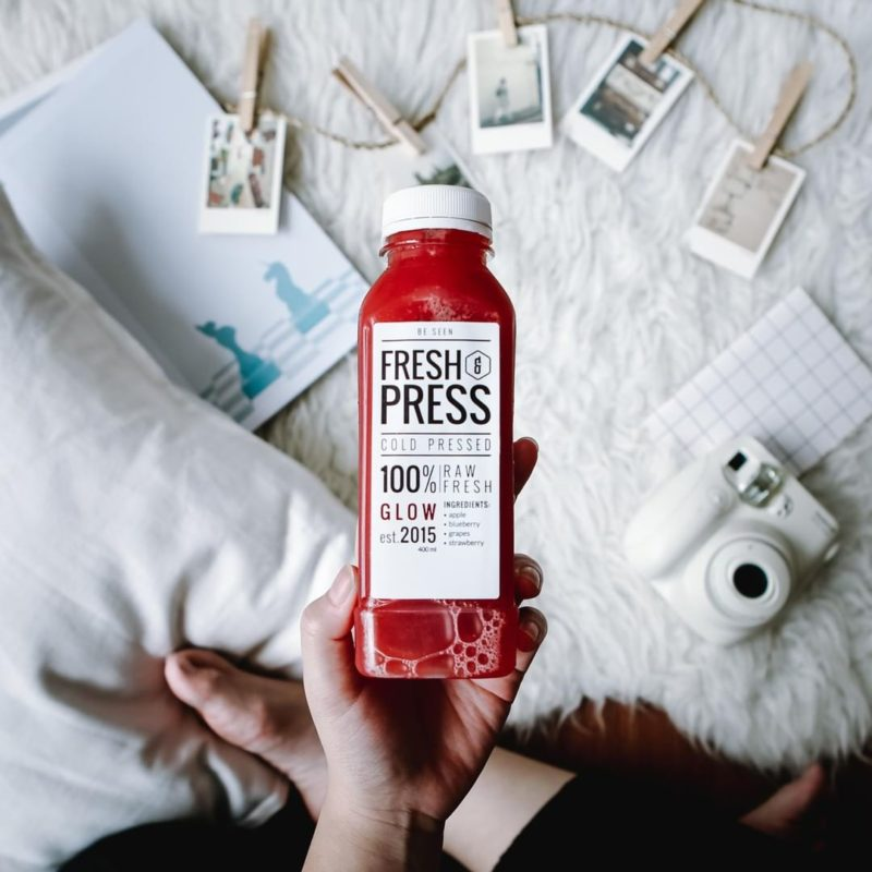 Fresh and press pressed juice