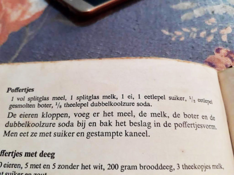 resep Poffertjes dalam bahasa Belanda