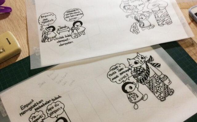 Masker Komik Corona Yang Seru Dari Cirebon