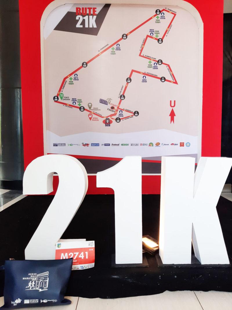 Rute Kediri Half Marathon