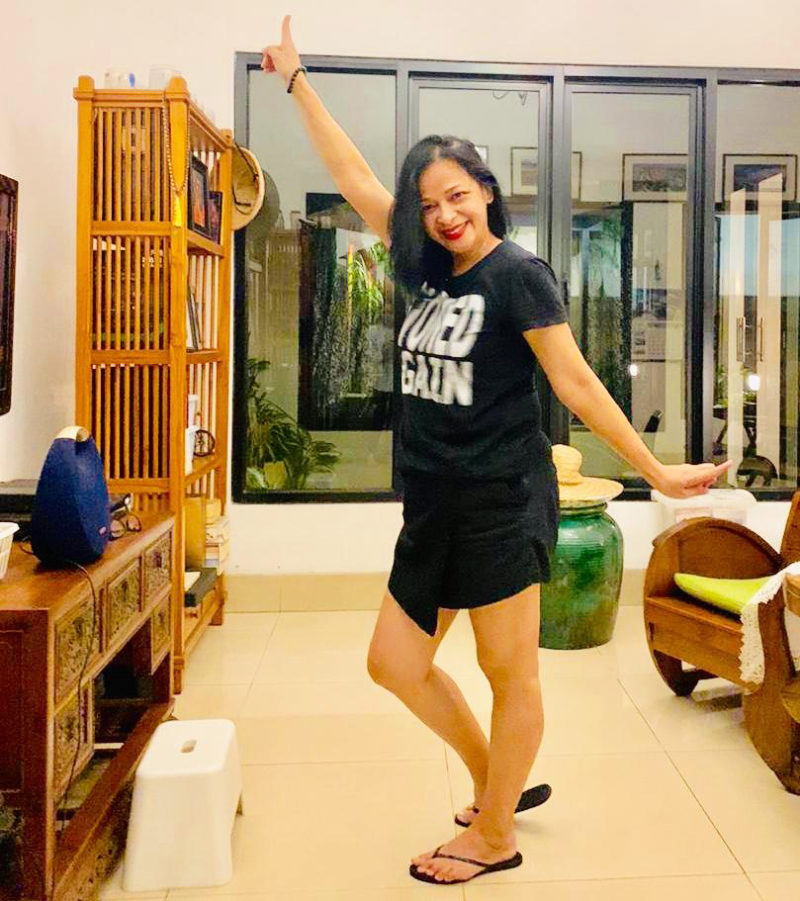 Julia berdansa (Foto: Julia)