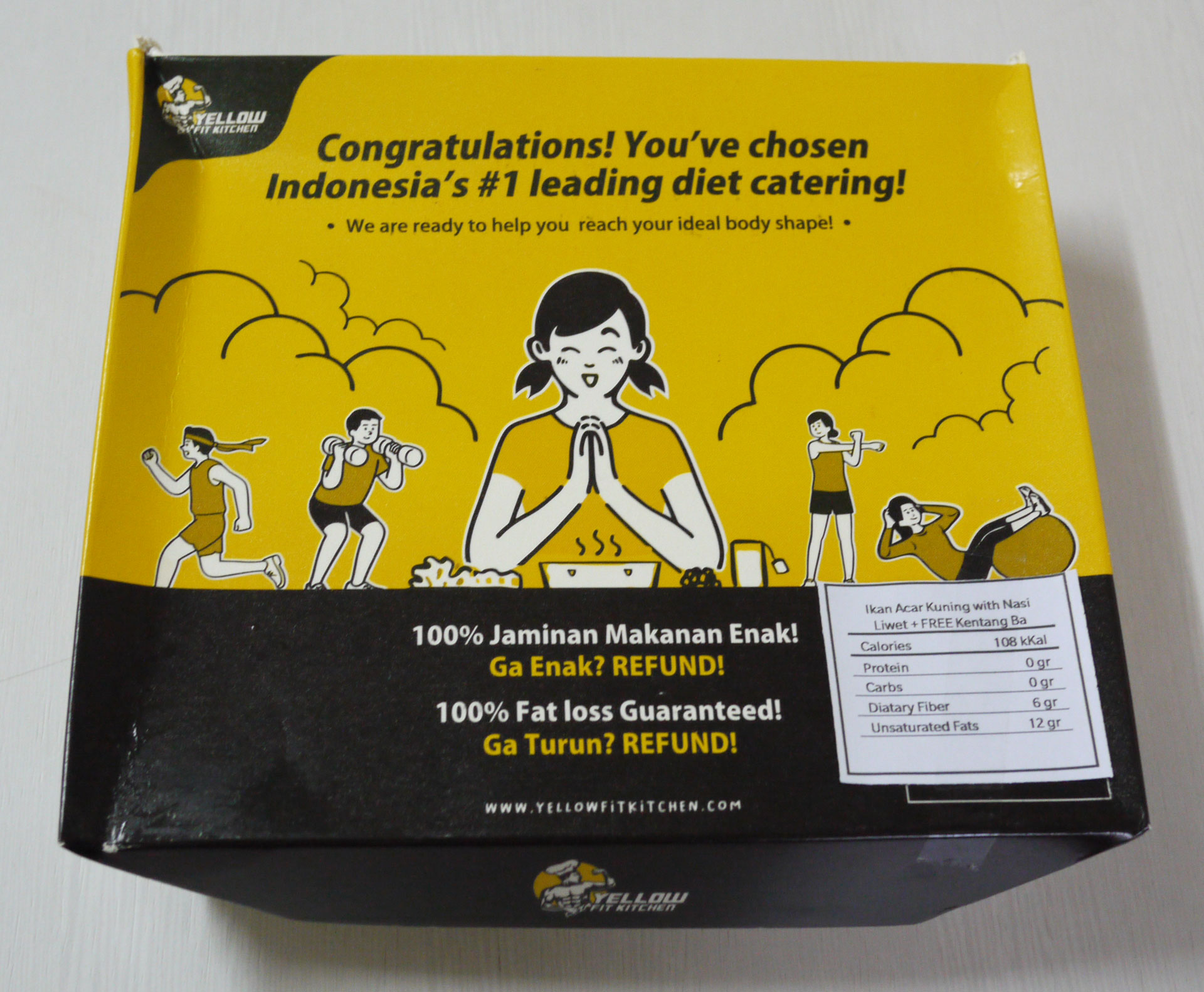 catering sehat dari Yellow Fit Kitchen
