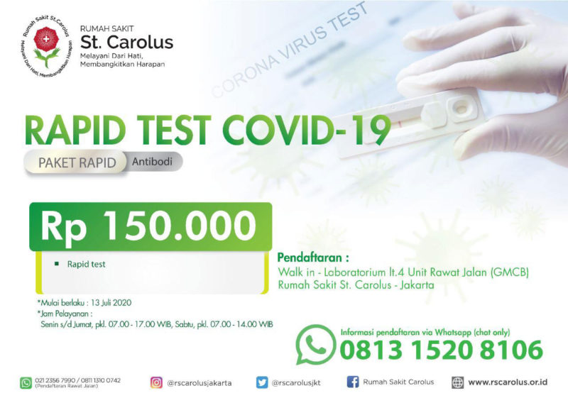 rapid test RS St Carolus