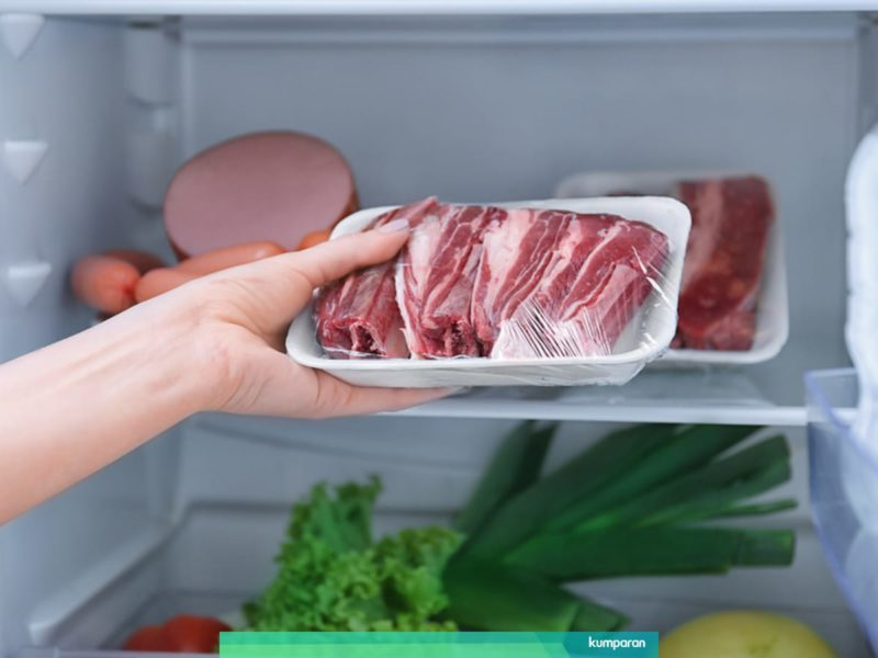 Daging segar dalam kulkas