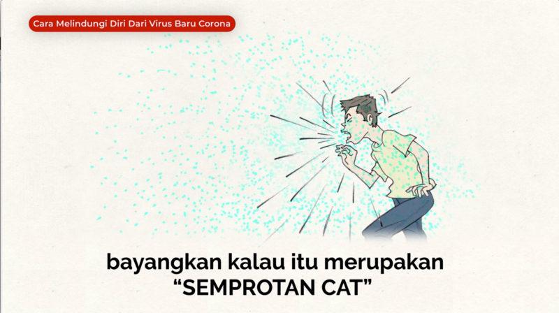 """Virus Corona, """"Bayangkan Virus Sebagai Cat Basah"""""""