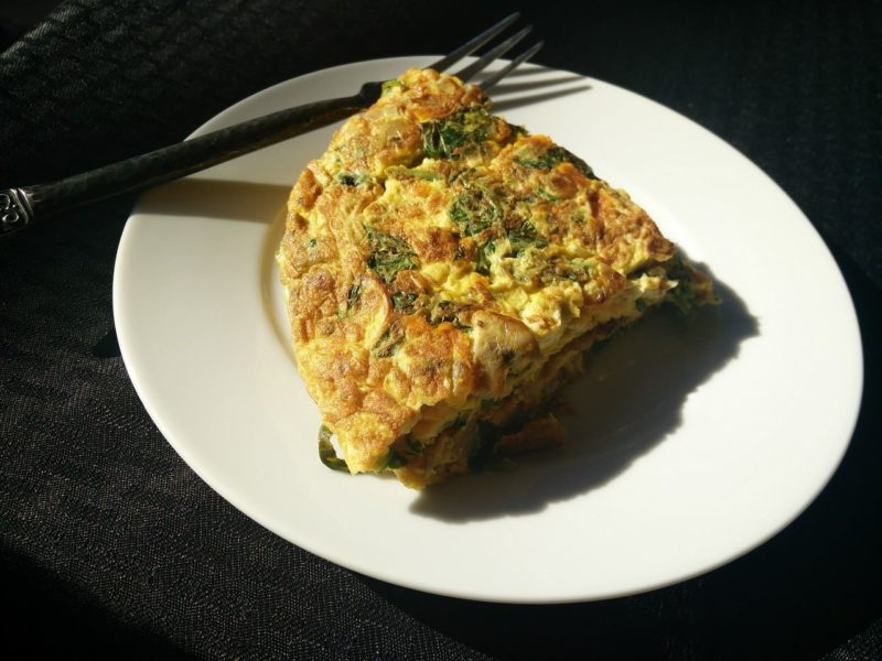 omelet jamur
