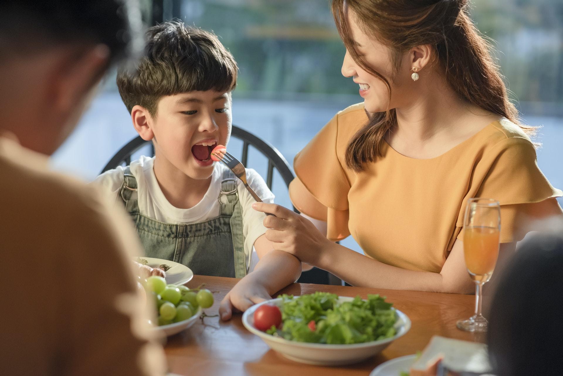 membiasakan anak makan sayur